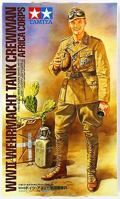 Tamiya 36310 WWII Wehrmacht Tank Crewman Afrika Corps 1/16 Scale Figure