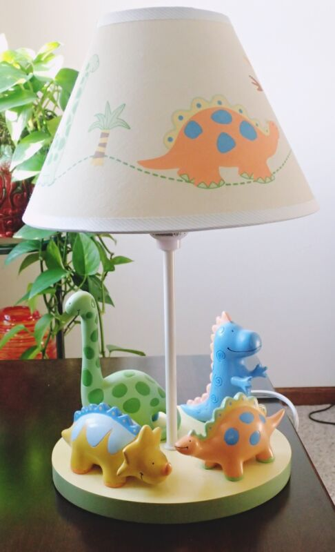 Baby Dino Lambs & Ivy Lamp With Shade Works