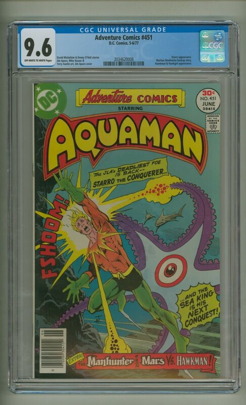 Adventure 451 (CGC 9.6) OW/W pages; Starro; Martian Manhunter; Hawkman (c#24172)