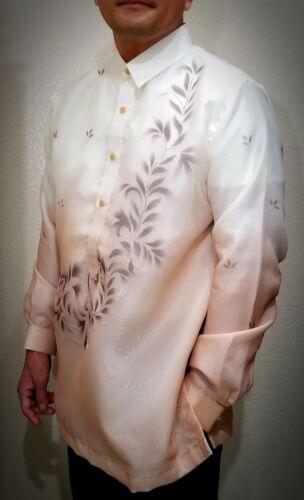 BARONG TAGALOG Filipino National Costume FILIPINIANA Filipino Dress -Light Brown