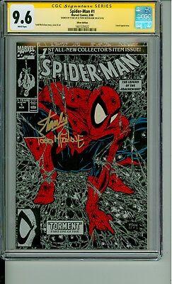 Spider-Man 1 CGC 9.6 SS Silver Signature Lee & McFarlane 1990 CBCS @1ERComics