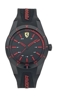 Scuderia Ferrari Men's Red Detail Rev Strap Water Resistant Analogue Watch