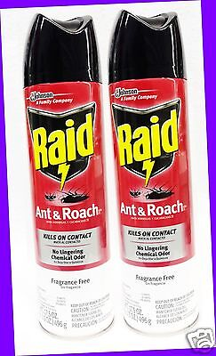 Raid Ant-roach Killer (2 Raid ANT & ROACH Defense System FRAGRANCE FREE Killer Spray KILLS ON CONTACT)