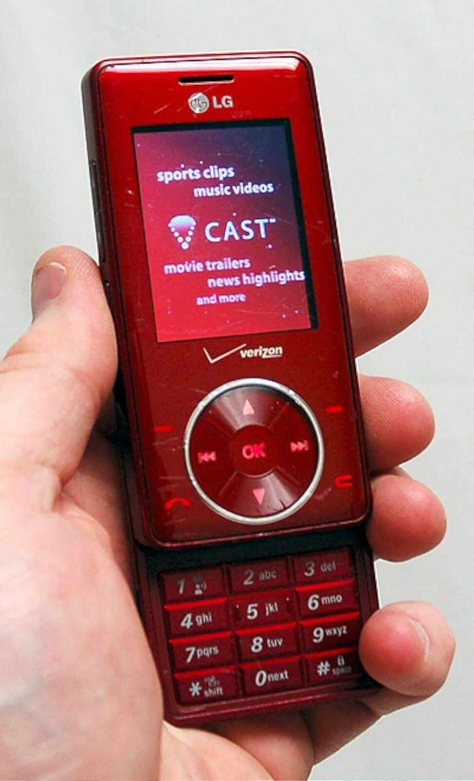 LG Cherry Chocolate VX8500 Verizon Wireless Cell Phone RED camera ...