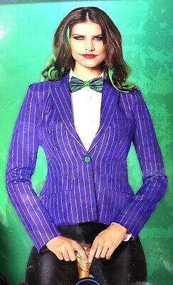 Batman And Joker Halloween Costumes (The Joker Jacket Women's Adult Small Halloween Cosplay DC Batman And)