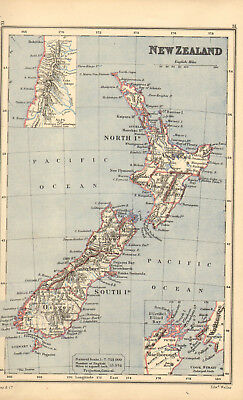 1886 map of new zealand .by rev george butler