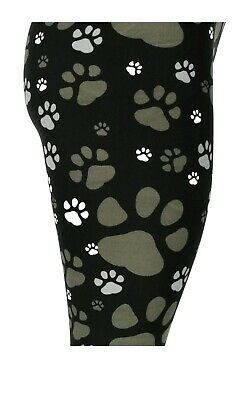 Dog Puppy Paw Prints! One Size Buttery Soft Leggings