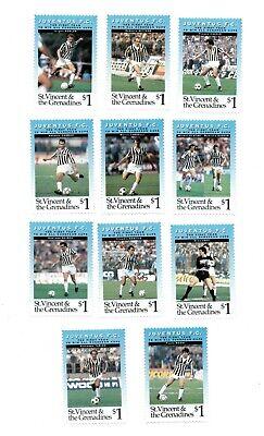 St. Vincent 1994 SC# 2023-33 Soccer, European, Juventus - Set of 11 Stamps - MNH