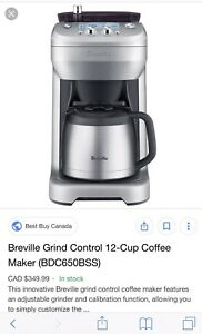 Breville Grind coffee maker parts needed
