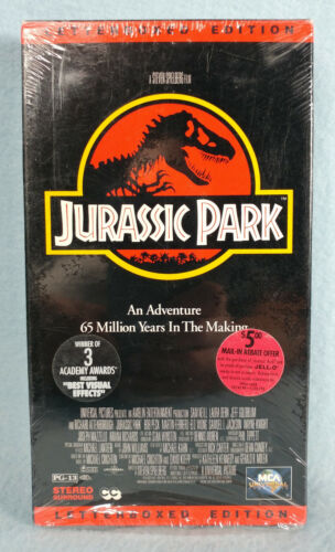 Jurassic Park Letterboxed Edition VHS Movie Tape Cassette - Sealed Unopened