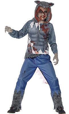 Smiffys Boys Teen Kids Werewolf Wolf Halloween Fancy Dress Costume Outfit 10-14