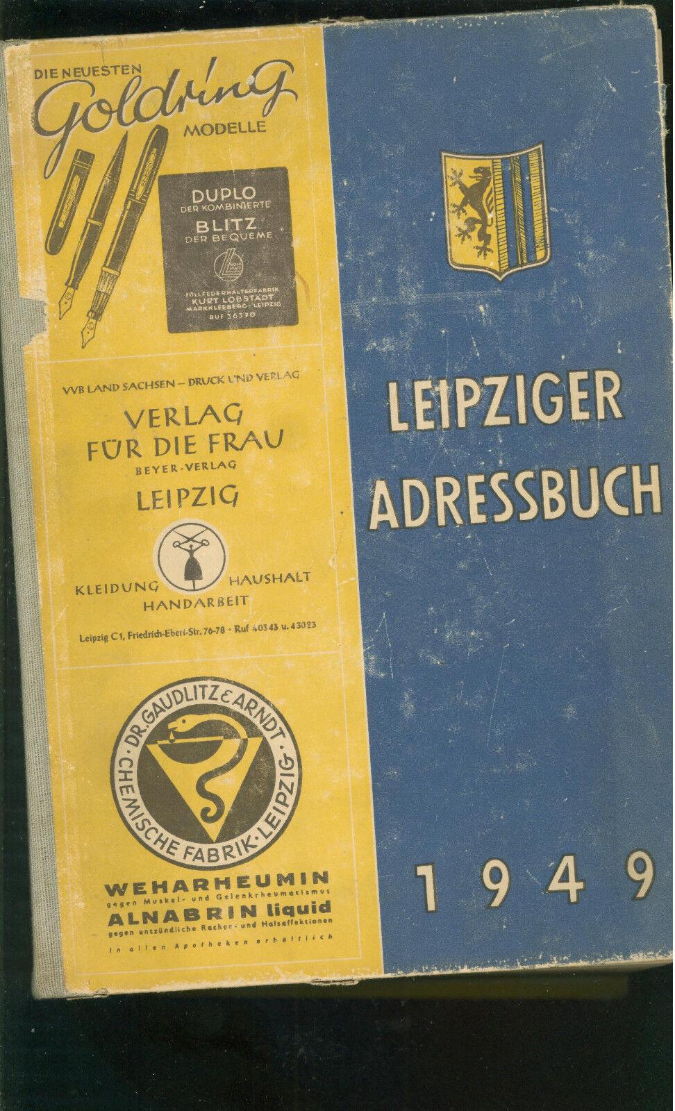 Leipziger Adressbuch 1949