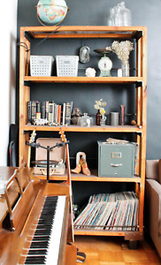 Beautiful, solid, industrial-styled bookcase!