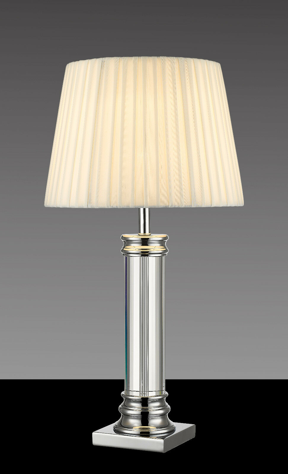 XXL Tischlampe Wohnzimmer K8 Kristallglas Fuß Kommoden Leuchte