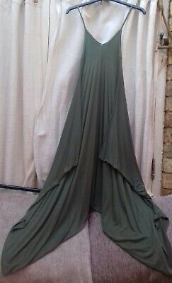 Green harem style jumpsuit by Blue Vanilla. Size S/M