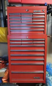 Master craft 2 piece Tool Chest and Hand Tools