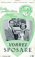 Brochure,1949,vorrei Sposare June Bride Bette Davis Montgomery,windust -  - ebay.it
