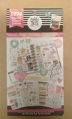 """NEW! me & my big ideas create 365 """"WATERCOLOR"""" Value Pack Stickers"""