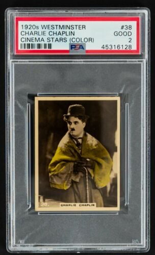 1920s Charlie Chaplin Westminster Tobacco #38 Cinema Stars Card (PSA Good 2)