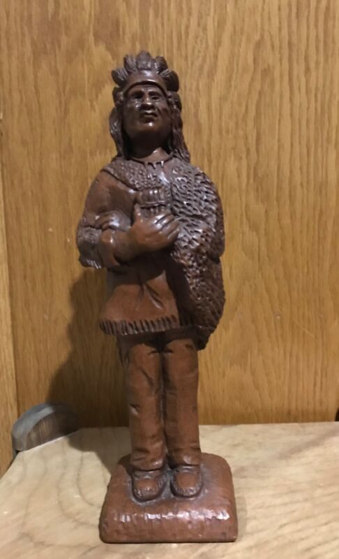 """Vintage Cigar Store Indian Figure 10"""" Tall"""