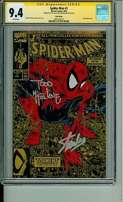 Spider-Man 1 CGC 9.4 SS Gold Signature Lee & McFarlane 1990 CBCS @1ERComics