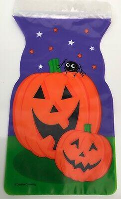 6 x HALLOWEEN PumpkinTREAT GOODIE ZIPPER BAGS Sweet - Halloween Goodie Bags