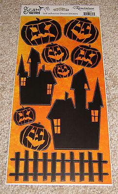 Reminisce Die Cut Sticker Sheet ~ Halloween Scare Tactics....Pumpkins/House Die Cut Sticker Sheet
