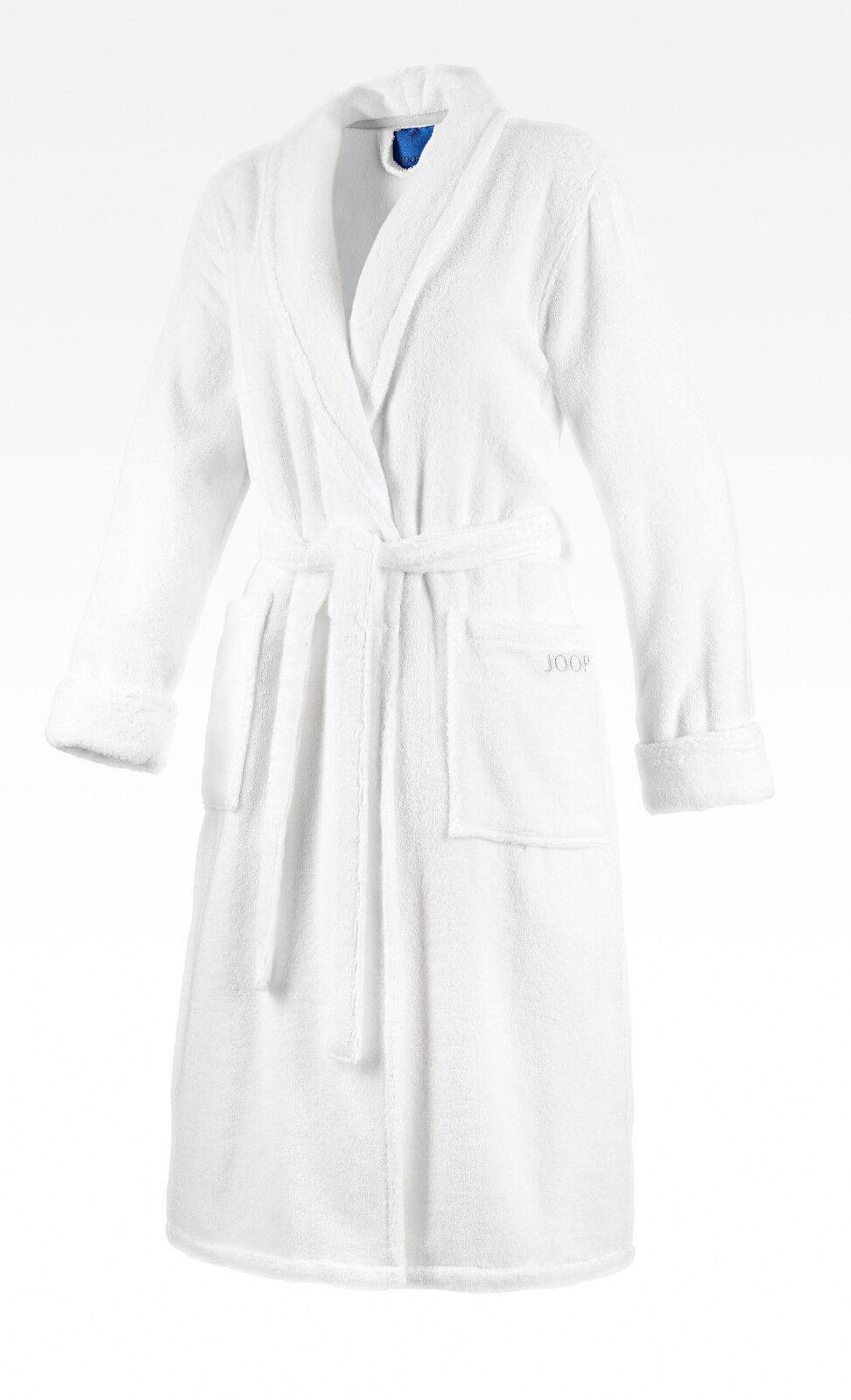 JOOP 1650 Damen Bademantel Größe 44 / 46 L Farbe Weiß mit Schalkragen NEU