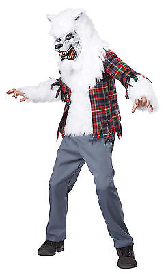 White Werewolf Beast Lycan Child Costume (Werewolf Kid Costumes)