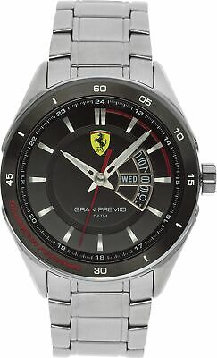 Scuderia 830189 Ferrari Men's Gran Premio Bracelet Analogue Watch - Silver/Black