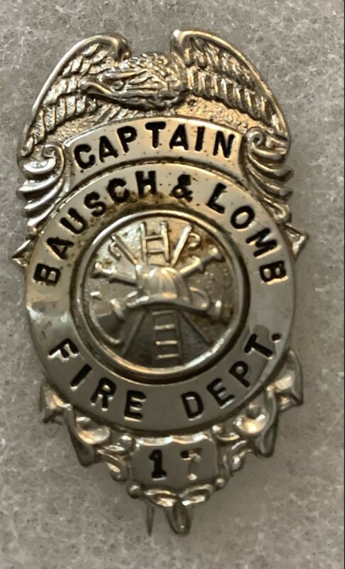 Bausch And Lomb Fire Department #17 Captain Badge