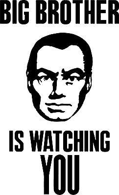 Big Brother Sticker - Big Brother is Watching vinyl decal sticker 1984 orwell illumnati trump