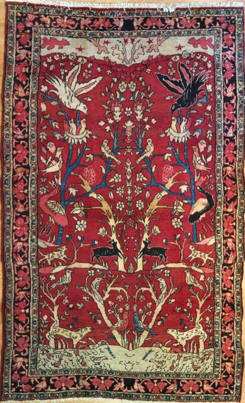 Tremendous Tribal - 1930s Antique Oriental Rug - Nomadic Carpet - 4.4 X 6.11 Ft.