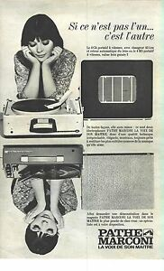 publicite 1965 pathe marconi tourne disque c4 portatif ebay. Black Bedroom Furniture Sets. Home Design Ideas