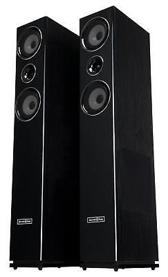 Paar 3-wege HiFi Home Cinema Stand Lautsprecher Bass Subwoofer Boxen Set 600W online kaufen