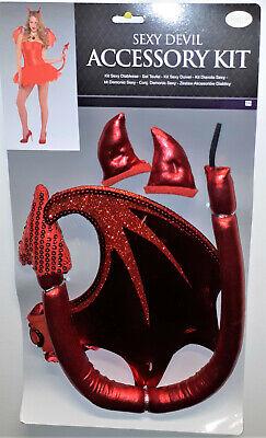 Sexy Damen Teufel Set zubehör für Kostüm Karneval Halloween - Halloween Teufel Kostüm Zubehör