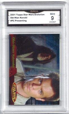 2001 Topps Star Wars Evolution Obi-Wan Kenobi #P2 Presenting Promo Card - 9