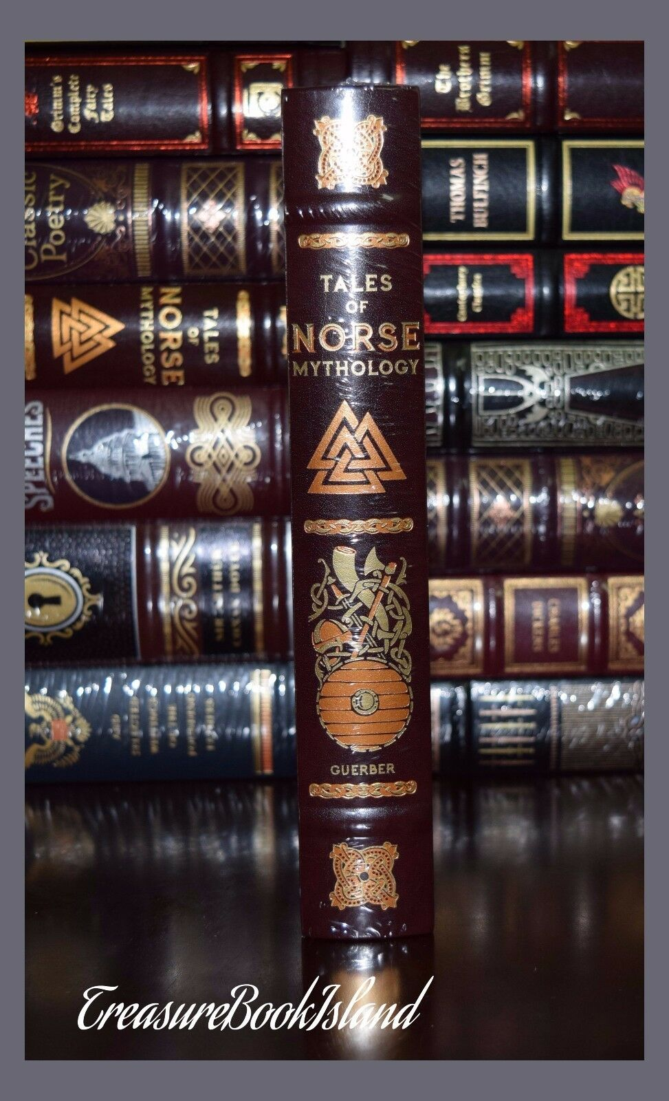 Tales of Norse Mythology Viking Tales Illustrated New Sealed Leather Hardcover