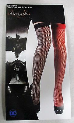 Licensed DC Comics HARLEY QUINN Cosplay Thigh High Fish Net Stockings Socks