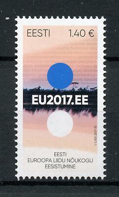 Estonia 2017 MNH Estonian Presidency EU Council EU2017.EE 1v Set Politics Stamps