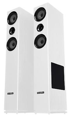 Paar 3-Wege HiFi Home Cinema Stand Lautsprecher Bass Subwoofer Boxen Set 600W 3-wege Lautsprecher