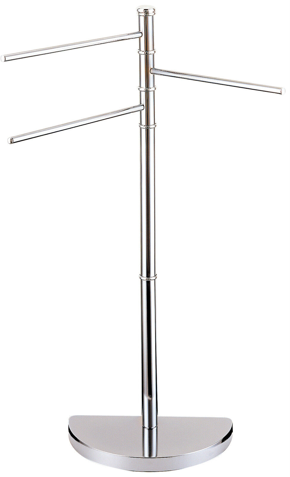 lunar chrome 3 arm free standing bathroom towel rail rack showerdrape ebay. Black Bedroom Furniture Sets. Home Design Ideas
