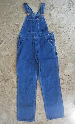 Vintage Overalls & Jumpsuits Dickies Boys Denim Bib Overalls Size Large Blue Jean Carpenter  $22.99 AT vintagedancer.com