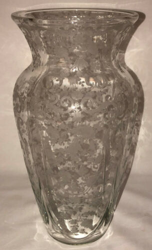 "Cambridge CHANTILLY CRYSTAL 10 3/4"" FLARED VASE #3400/1242"