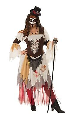 Conjure Woman Voodoo Skeleton Priestess Adult Womens Costume Plus Size NEW - Plus Size Womens Skeleton Costume