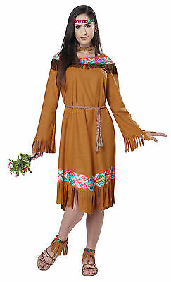 Thanksgiving Classic Indian Pocahontas Adult Women Costume](Pocahonta Costume)