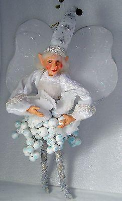 Christmas Berry Fairy Winward Holidays Santa Ornament Elves Elf Collectible
