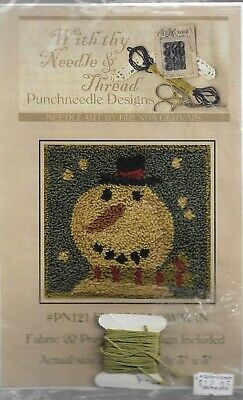 Punchneedle Design Pattern-With Thy Needle & Thread-Funky Snowman-3