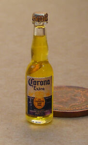 1 12 Real Glass Bottle of Corona Extra Beer Dolls House ...