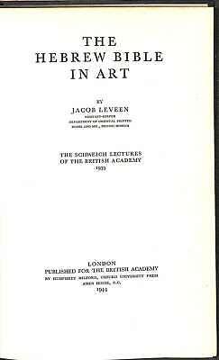 THE HEBREW BIBLE IN ART, Leveen, J, Good Condition Book, ISBN